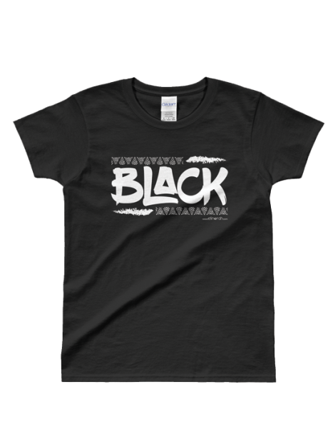 BLACK Ladies Tee front
